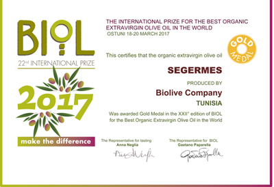 Gold Medal BIOL 2017 for Segermes